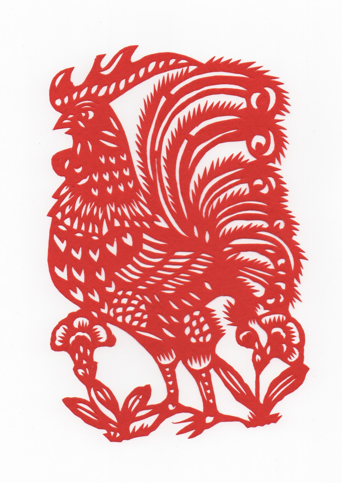 Chinese New Year Rooster Beautiful new year cards