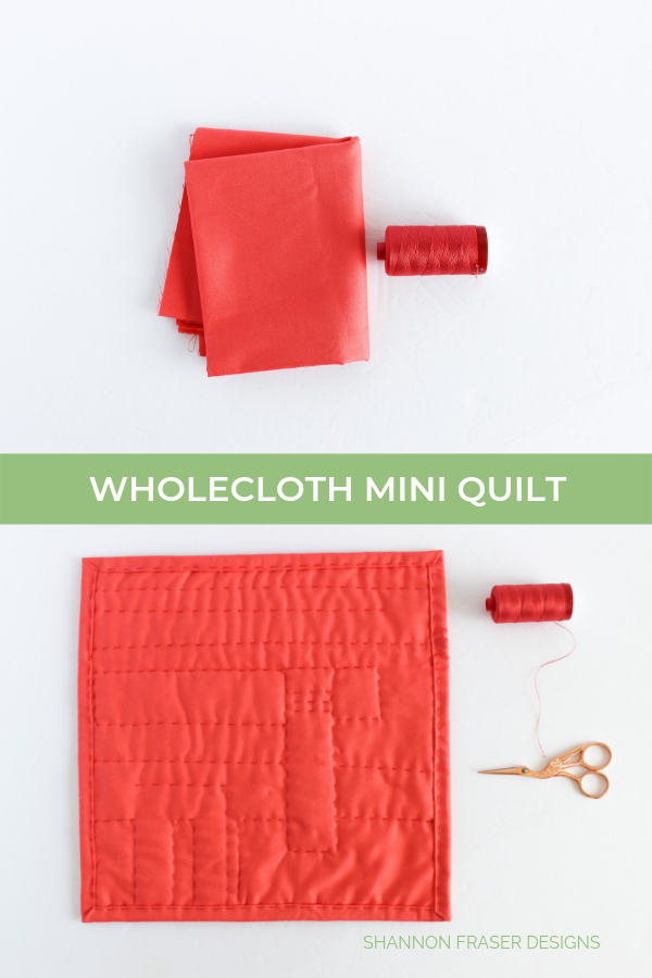 Wholecloth Mini Quilt | Shannon Fraser Designs #pbsfabrics #aurifilthread #miniquilt