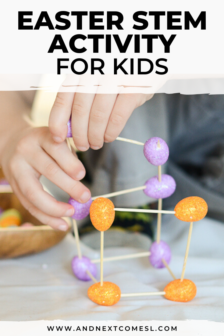 Easter STEM activity and Easter engineering challenge for kids