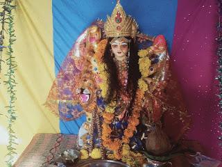 नवरात्रि के दौरान पुरे देश के साथ ग्रामीण क्षेत्र मे माताजी की स्थापना की गई