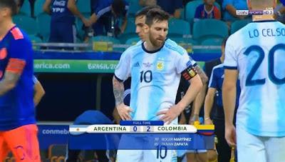 ملخص سقوط الأرجنتين أمام كولومبيا 2-0 كامل - كوبا أمريكا 2019