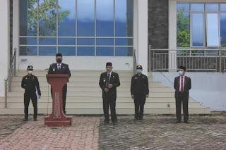 Pimpin Apel Gubungan Perdana, Bupati Vandiko Gultom: Mari Bergandeng Tangan Membangun Kabupaten Samosir