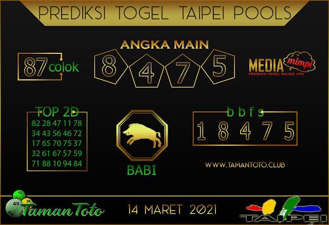 Prediksi Togel TAIPEI TAMAN TOTO 14 MARET 2021