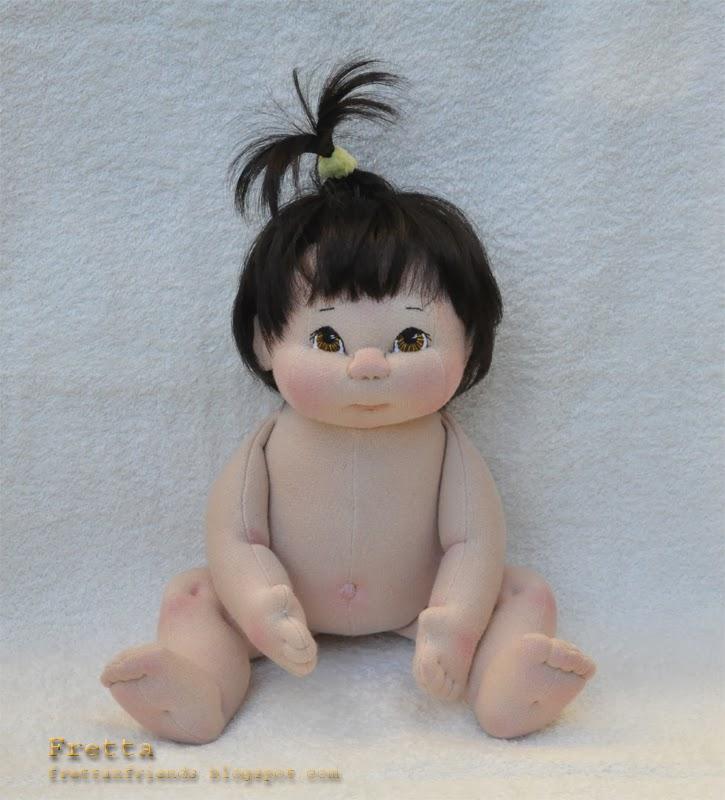 Fretta Textile Baby Doll 38 Cm 15 Quot Dark Brown Hair