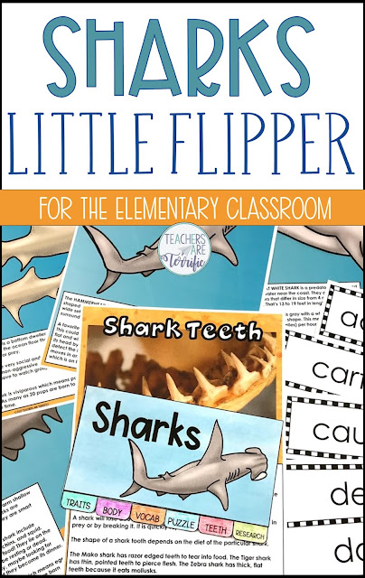 It might be Shark Week! Create a six-page mini booklet with your students to research and learn more about sharks. This is a fabulous way to introduce or reinforce your student's knowledge of a science topic. This Little Flipper is also perfect for a follow-up after a STEM Challenge! #reading #elementary #sharks