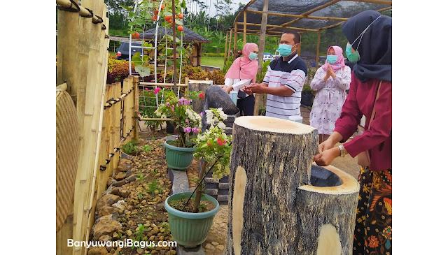 Tempat cuci tangan di Agrowisata Taman suruh