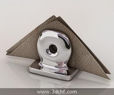 napkin 3d model free