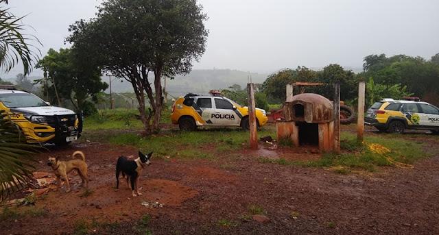 Nova Cantu: Durante fuga, bandidos trocam tiro com a PM. Caminhonete foi recuperada