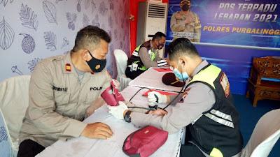 Urkes Polres Purbalingga Berikan Obat dan Vitamin Petugas Operasi Ketupat Candi 2021
