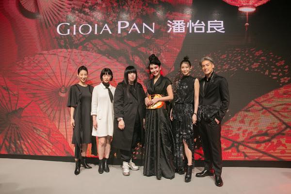 凱渥藝人力挺潘怡良,由左至右(大久保麻梨子、朱葒、設計師潘怡良、洪曉蕾、趙孟姿、許孟哲)