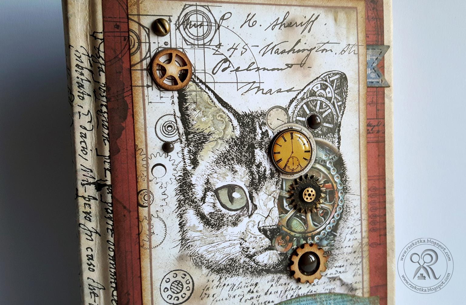 Kalendarz ze steampunkowym kotem