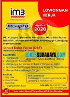Karir Surabaya di PT. Nusapro Telemedia Agustus 2020