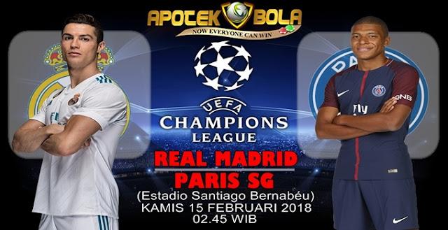Prediksi Real Madrid vs PSG 15 Februari 2018