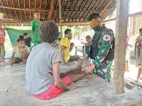 Perjuangan Di Tapal Batas Satgas Pamtas RI-PNG Berikan Pengobatan Gratis