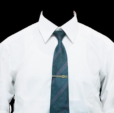 Contoh template kemeja putih dasi hijau
