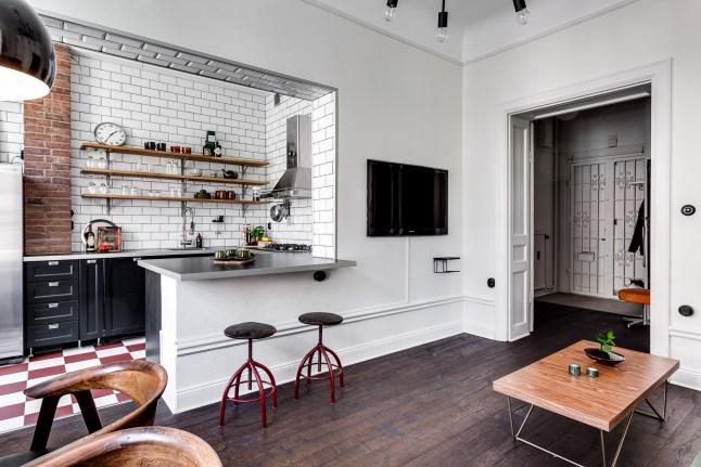 Eclectic scandinav într-un apartament tip vagon de 68 m²