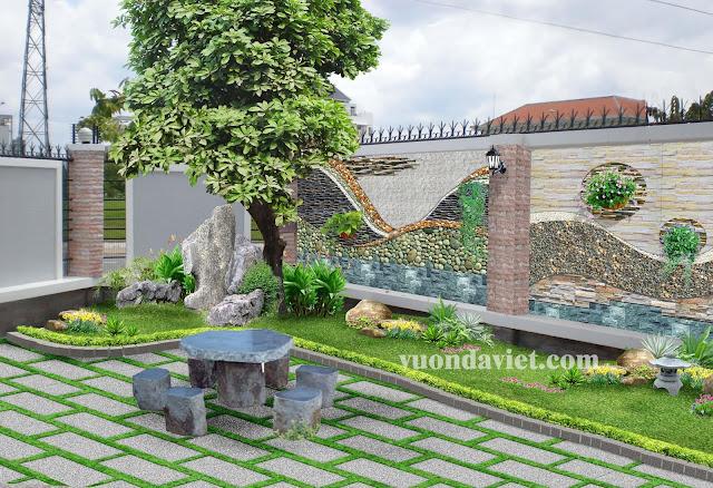 Đá tự nhiên trang trí sân vườn