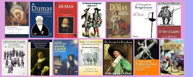portadas de la novela histórica El vizconde de Bragelonne, de Alejandro Dumas