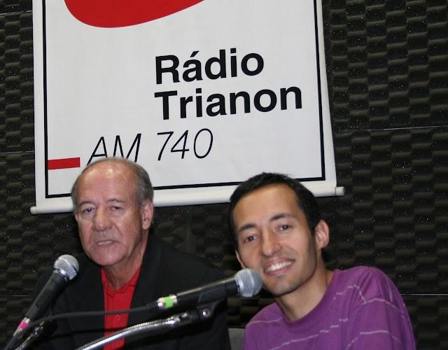 Jornalista Eduardo Martellotta na Rádio Trianon AM