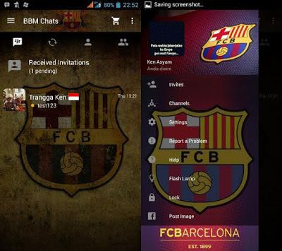 Download BBM Mod Tema Barcelona FC 3.3.2.31 Android 2017 Terbaru Gratis