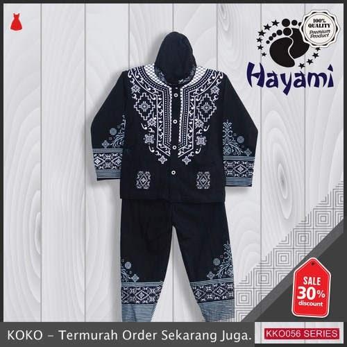KKO56 HYM939 Baju Koko Black Panther Lebaran Muslim Anak Pria 2 Sampai 10 Tahun BMGShop