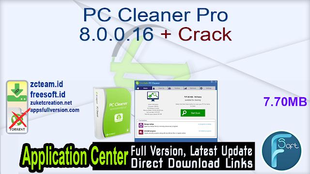 PC Cleaner Pro 8.0.0.16 + Crack_ ZcTeam.id
