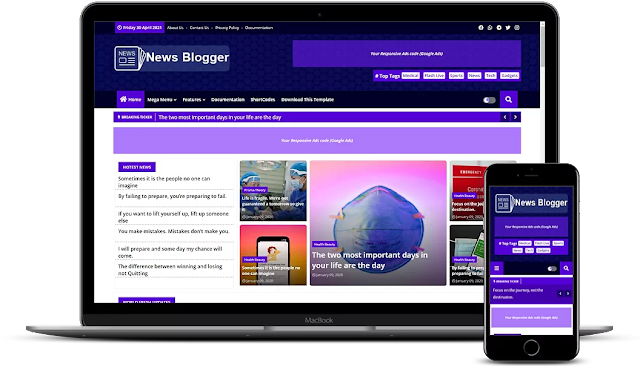 News Blogger Premium (2022) Blogger Templates Download For Free