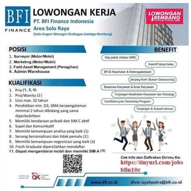 Lowongan Kerja PT BFI Finance Indonesia Rembang