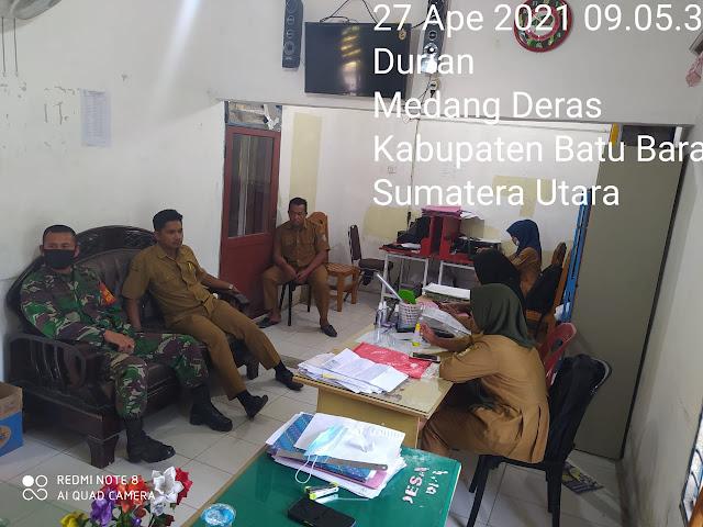Komunikasi Sosial Bersama Dengan Perangkat Desa Dilakukan Personel Jajaran Kodim 0208/Asahan