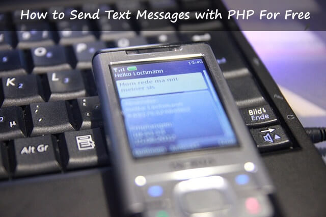 how to send sms from php