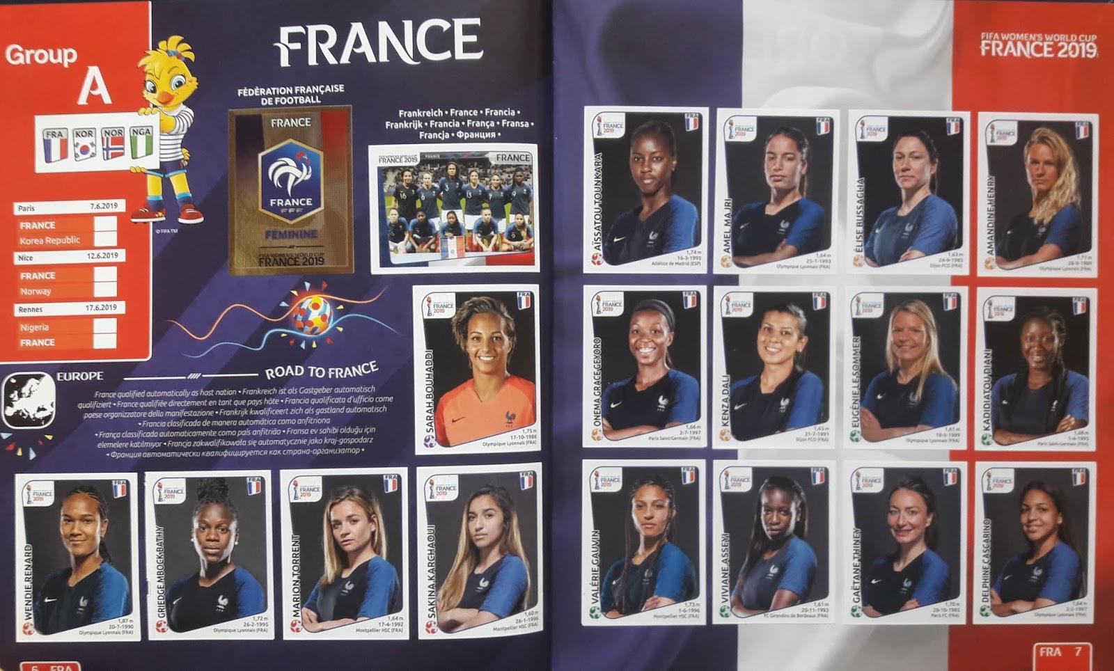 A5971 - Usted Elige 10+ Envío Gratuito 2019 Pegatinas Panini Women/'s Mundo Cup G1