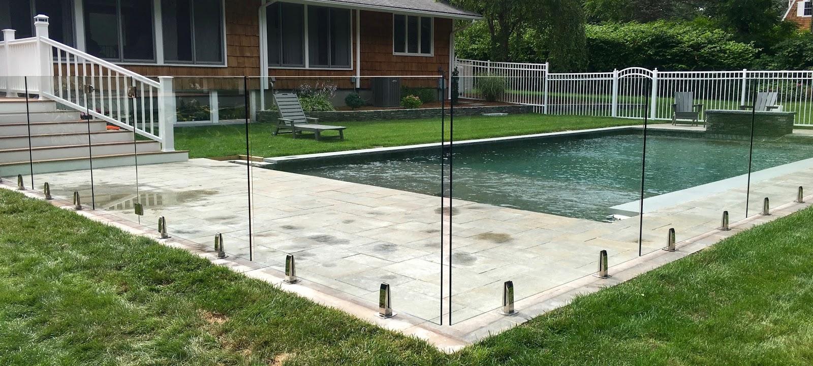 Frameless Glass Pool Fence Glass Fence New York Custom Glass Fencing Installation Nyc
