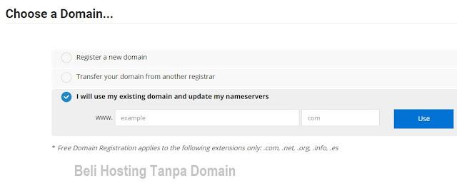 Beli Hosting Tanpa Domain