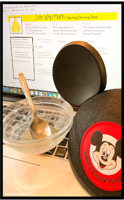 Disney's Dole Whip provided a great math opportunity during math.