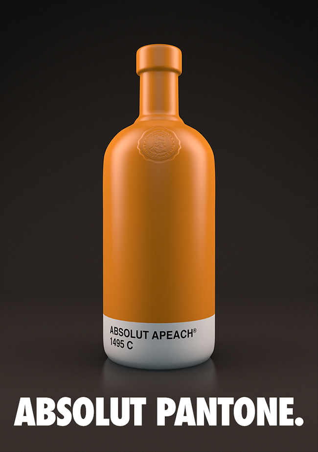 Thiết kế bao bì sản phẩm Absolut Pantone