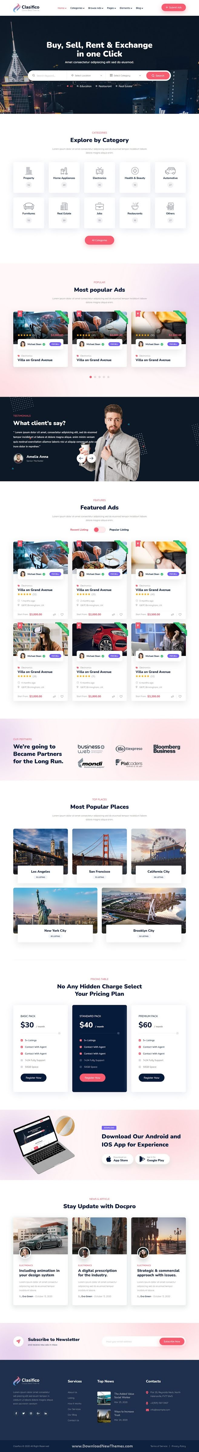 Classified Ads HTML Template