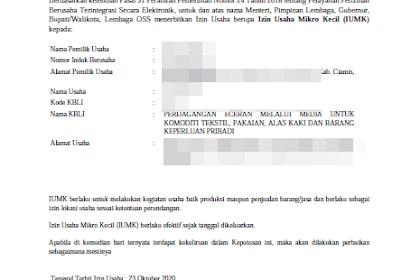 Cara Mendapatkan Surat Izin Usaha Mikro (NIB dan IUMK) Secara Online Untuk BLT UMKM