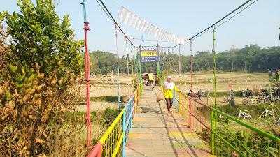 Jembatan Gantung Sasak Mare Viral