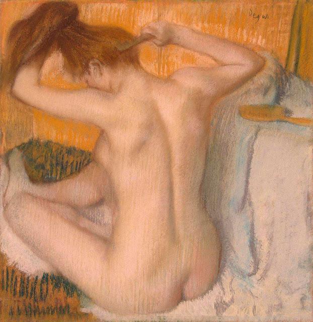 Эдгар Дега - Женщина за туалетом (1885)