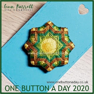 One Button a Day 2020 by Gina Barrett - Day 100 - Intrecciata