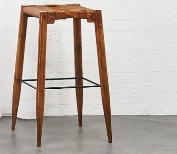 Simple Wood Red Made Bar Stools