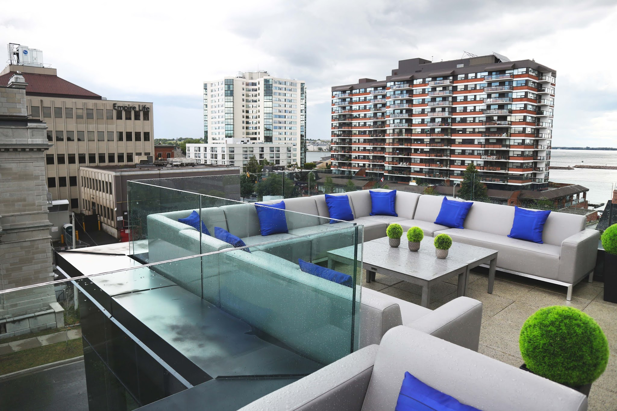 Rooftop patio in Kingston, Ontario