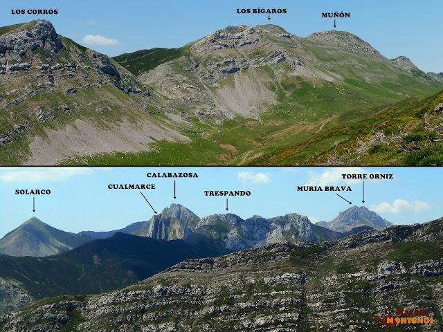 Cumbres de la Cordillera desde el Alto de Las Navariegas