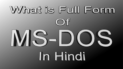 What is Full form of MS-DOS in Hindi