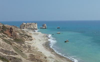 Happy snap of Petra tou Romiou, Aphrodite Birthplace, Paphos, Cyprus