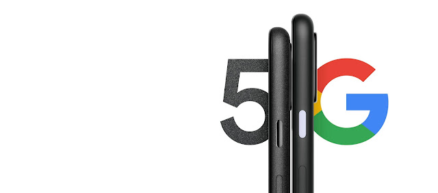 Image of the Pixel 4a (5G) and Pixel 5 back to back