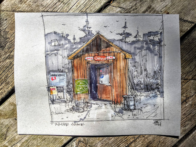 JEFF KENNEDY - Gates Lodge  Artist in Residence  Journal #5