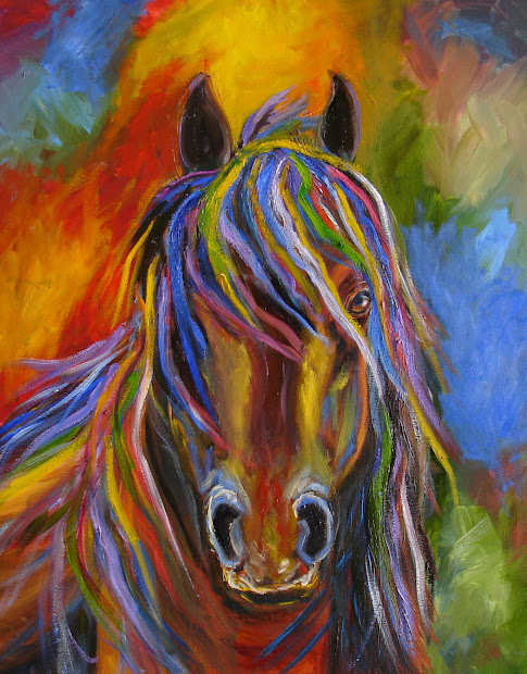 Horse Paintings Contemporary Abstract Art
