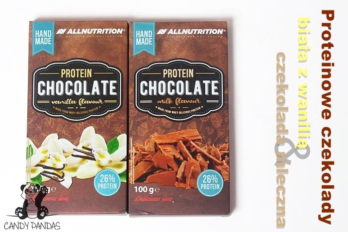 Proteinowa czekolada mleczna i biała – Allnutrition SFD
