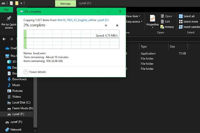 Proses Copy File Iso Windows